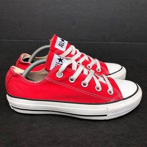 Women's Converse Chuck Taylor Red Shoes Size 5